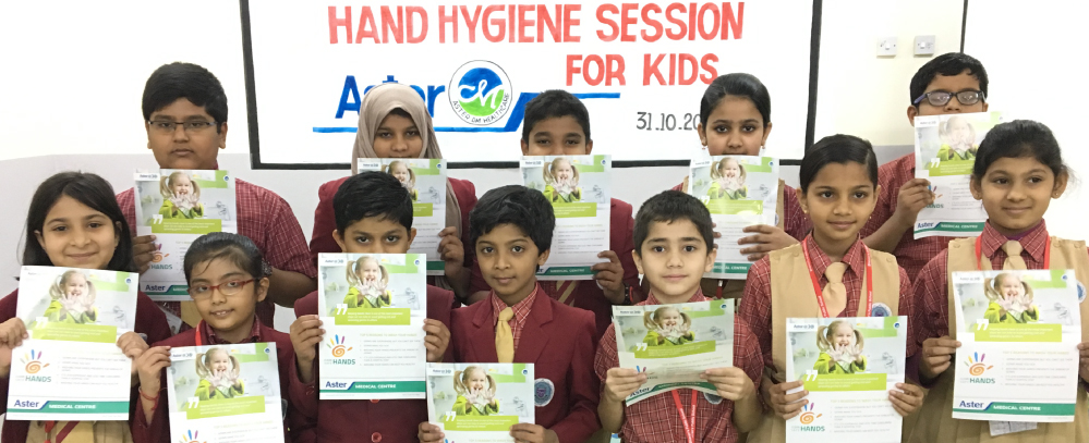 hand and oral hygiene sessions for school kids