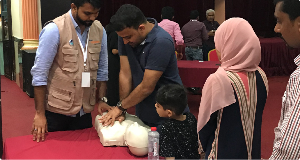 conduct a bLS training  in your institution
